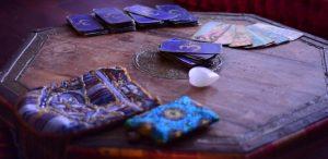 Tarot Cards display